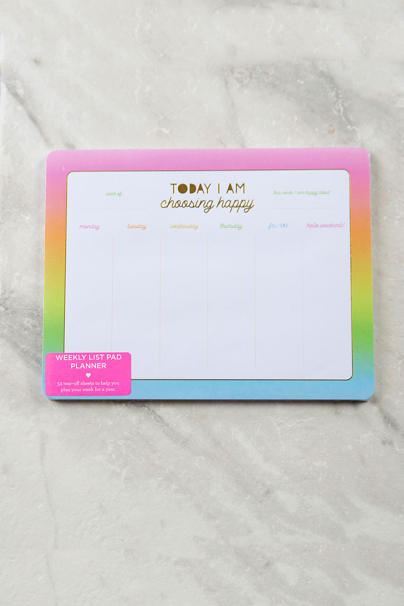 Today I Choose Happy Weekly Planner