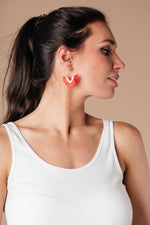 Tasseled V Earrings In RED - Amaranth Collection