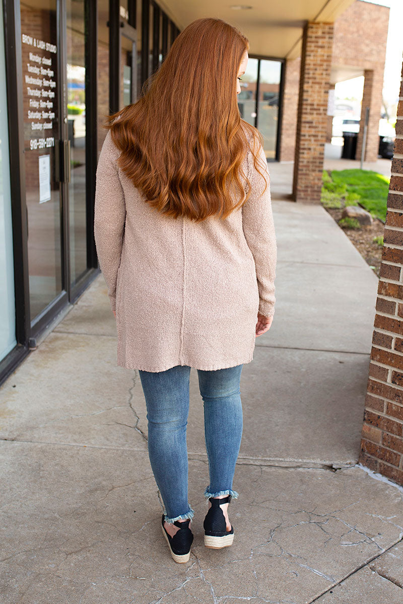 Taupe Blush Cardigan