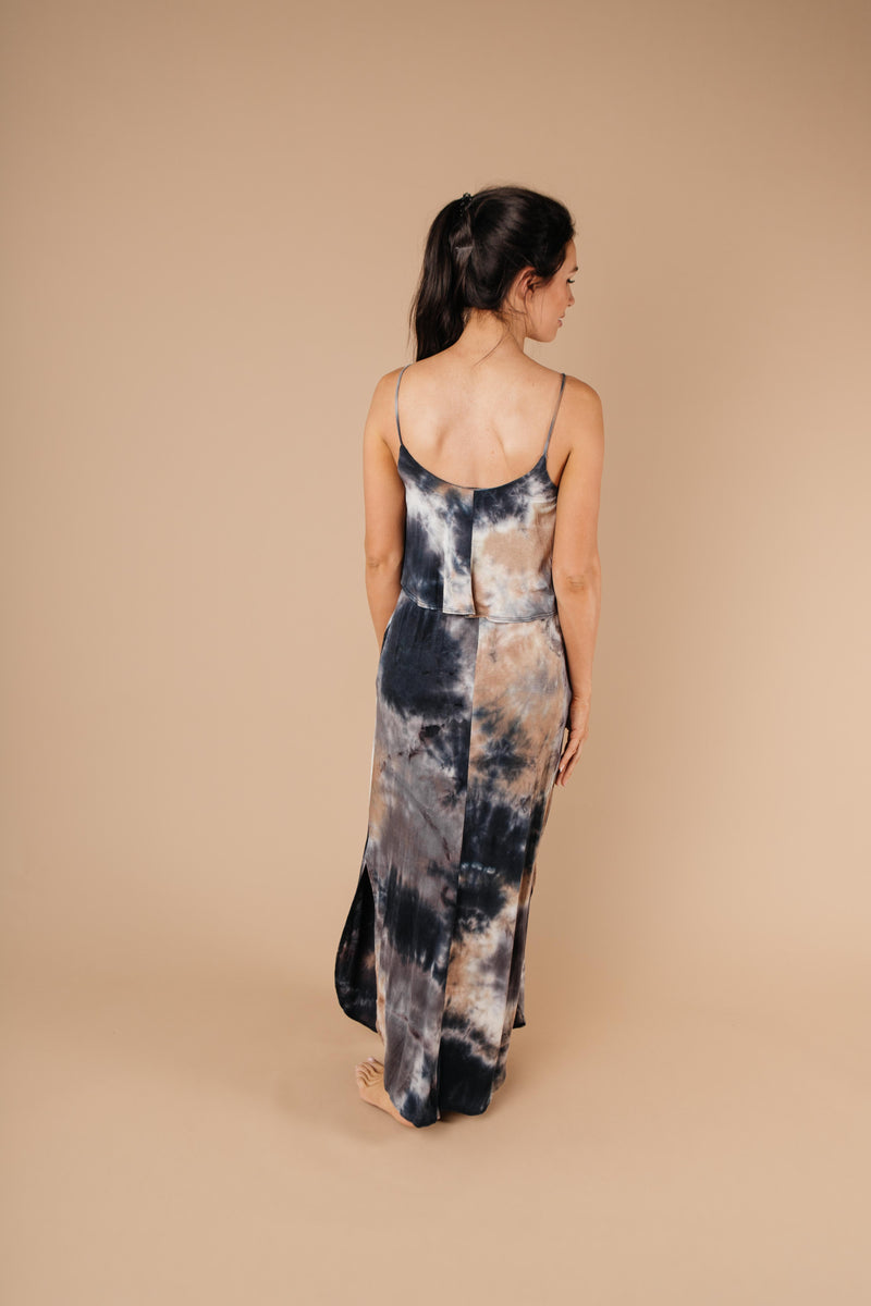Timeless Neutral Tie Dye Maxi Dress - Amaranth Collection