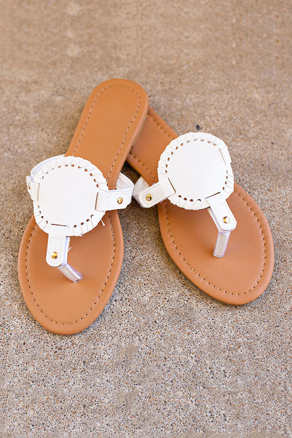 Summer Sunset Sandals - White