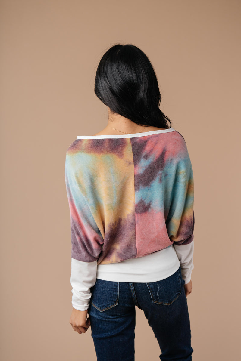Whitney Wide V Tie Dye Pullover
