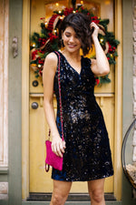 A Kiss At Midnight Sequin Dress - Amaranth Collection