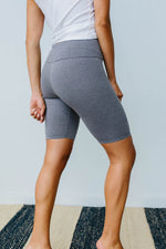 Aero Biker Shorts In Charcoal - Amaranth Collection