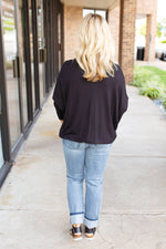 A Lot Like Me Dolman Sleeve Top in Black - Amaranth Collection