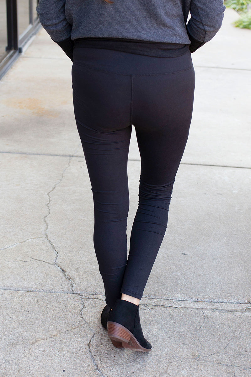 Butter Soft Legging in Black with Yoga Waistband