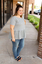 Preppy Peplum Top