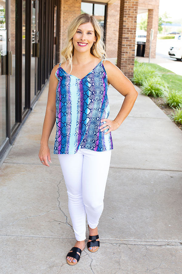 Burst of Color Pattern Tank Top