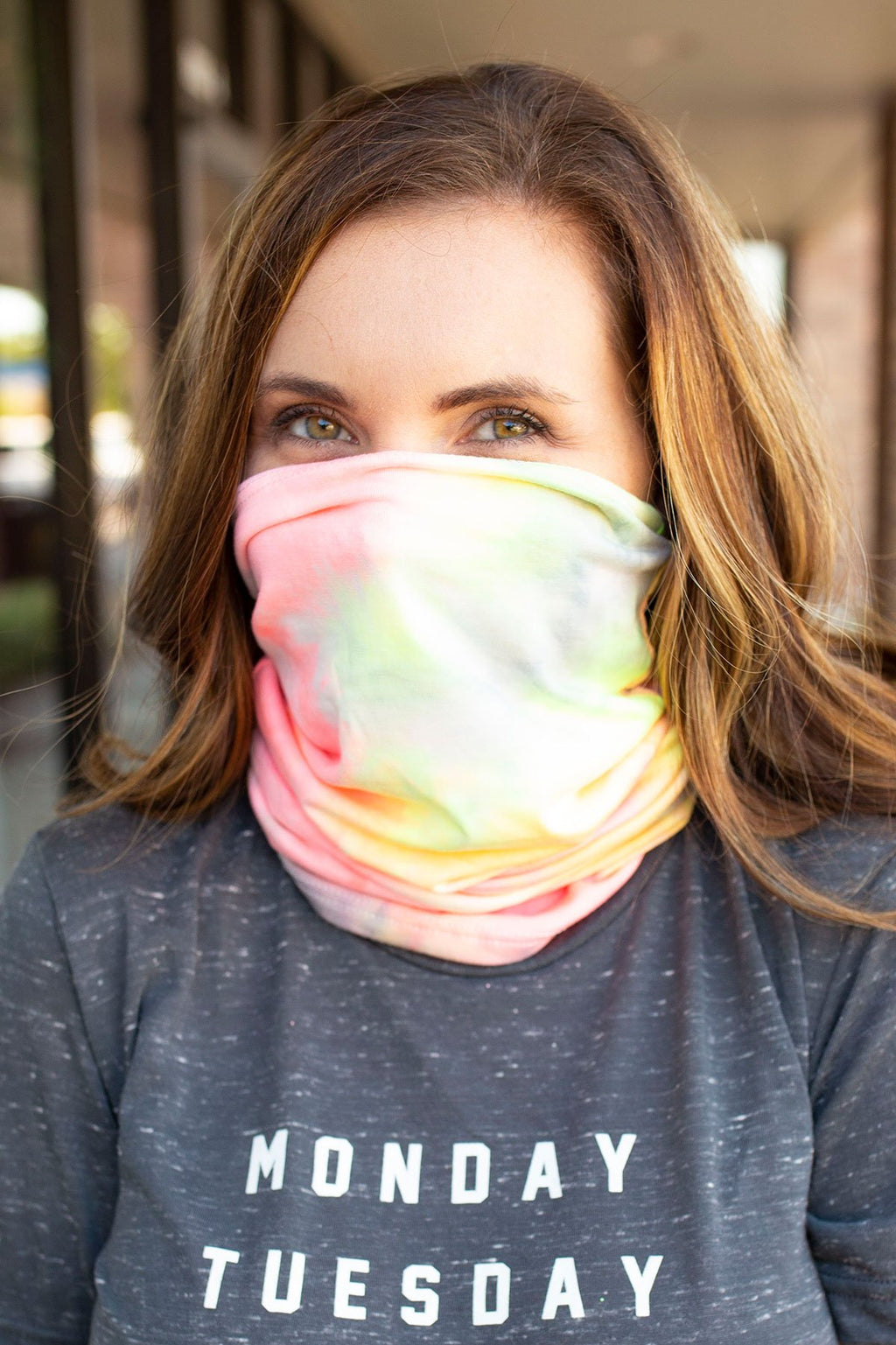 Bright Colors Tie Dye Face Bandana Mask - Amaranth Collection