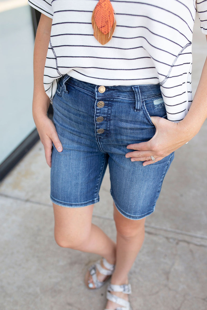 bermuda jean shorts for women