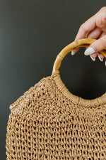 Circle The Globe Bamboo Handle Bag - Amaranth Collection