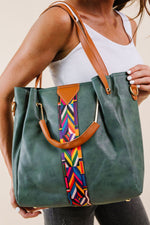 City Chic Tote In Green - Amaranth Collection