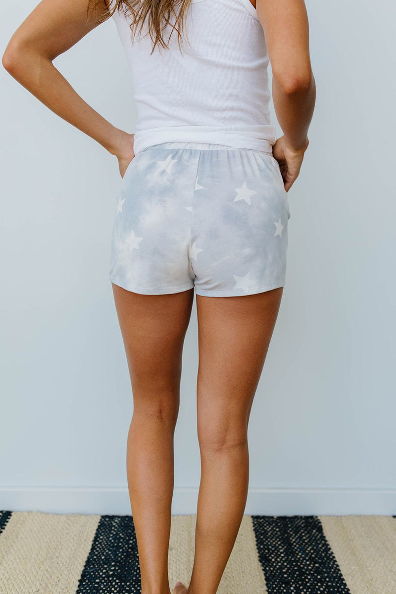 Cloudy With A Chance Of Stars Shorts in Blue - Amaranth Collection