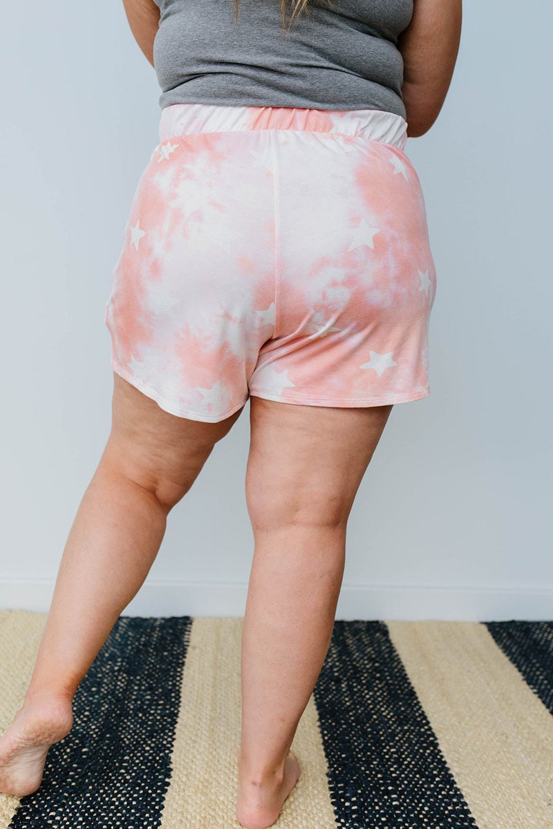 Cloudy With A Chance Of Stars Shorts In Blush - Amaranth Collection