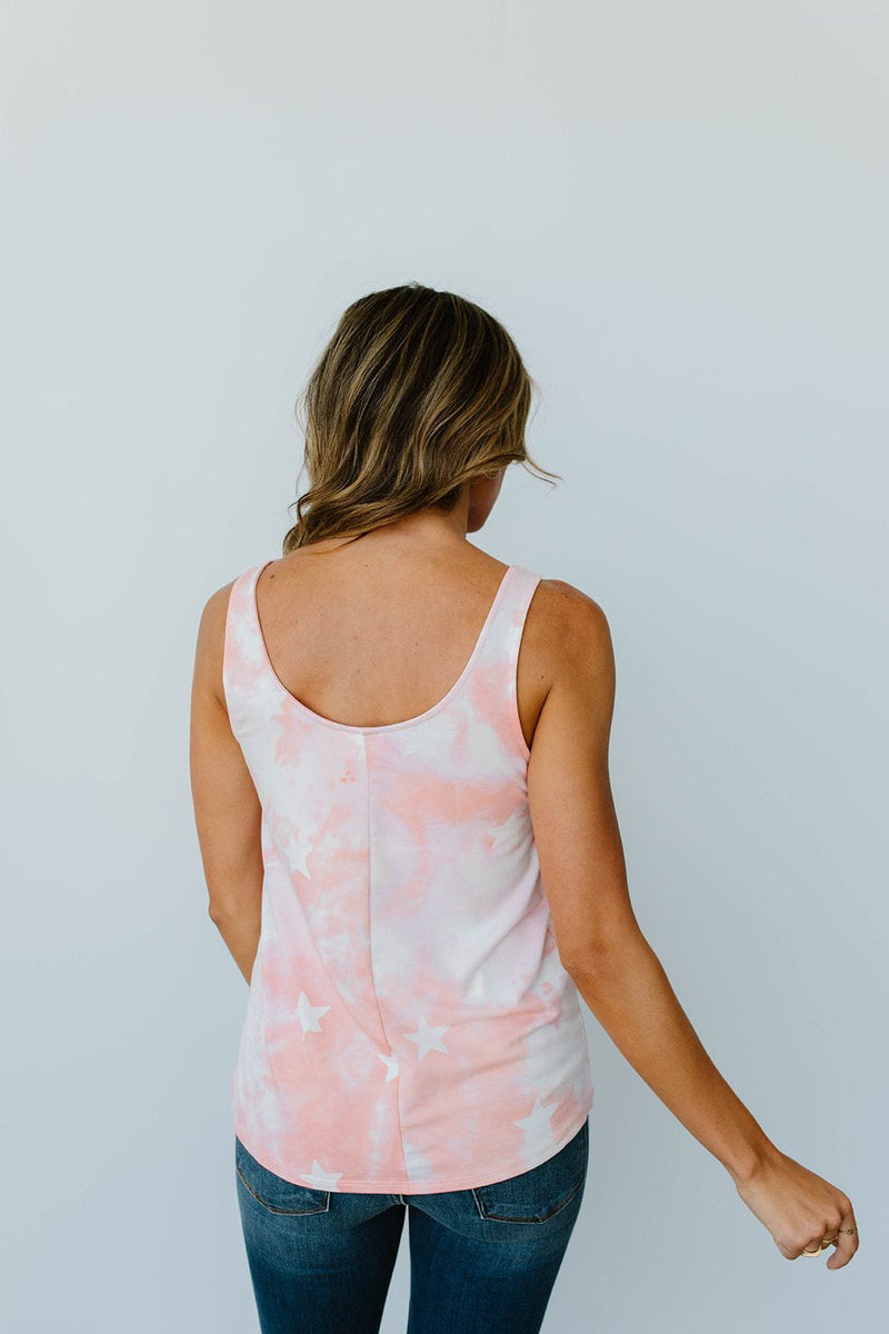 Cloudy With A Chance Of Stars Tank In Blush - Amaranth Collection