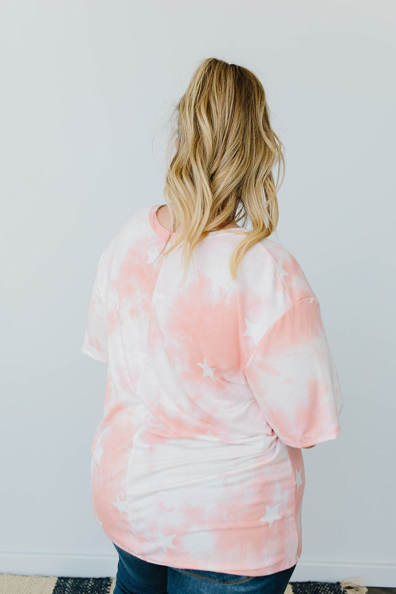 Cloudy With A Chance Of Stars V-Neck In Blush - Amaranth Collection
