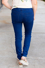 Dark Blue Stretchy Non-Distressed Jean