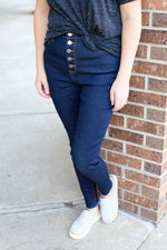 High Rise Skinny Dark Denim Jeans
