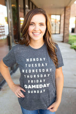 Gameday Week List Graphic Tee - Amaranth Collection