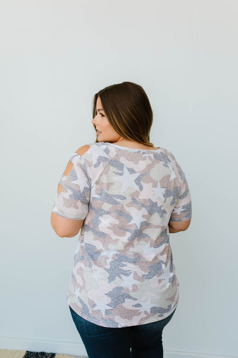 Desert Camo & Stars Top - Amaranth Collection