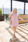 Don't Blink Pink & Ivory Striped Dress