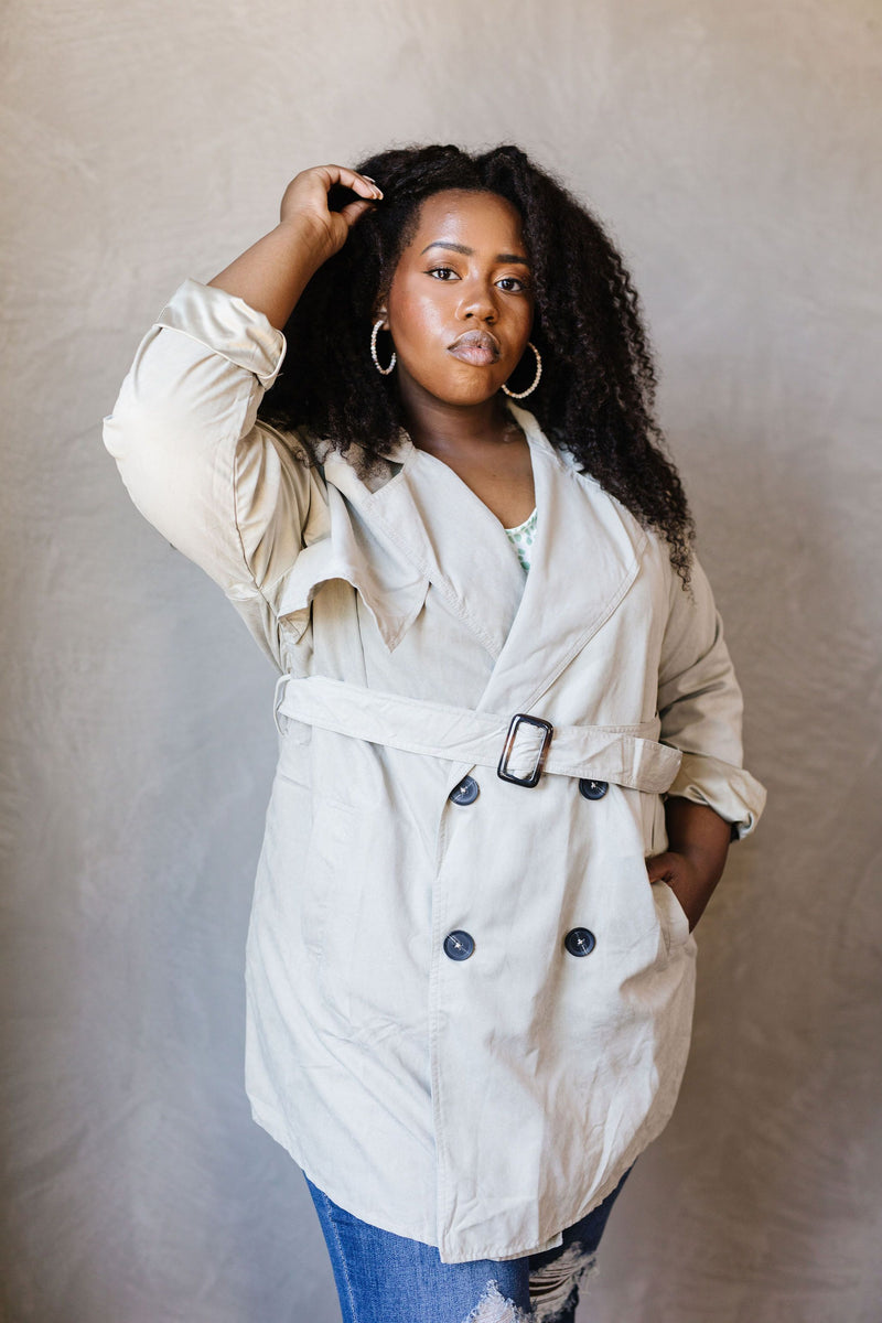 Double Agent Short Trench Coat - Amaranth Collection