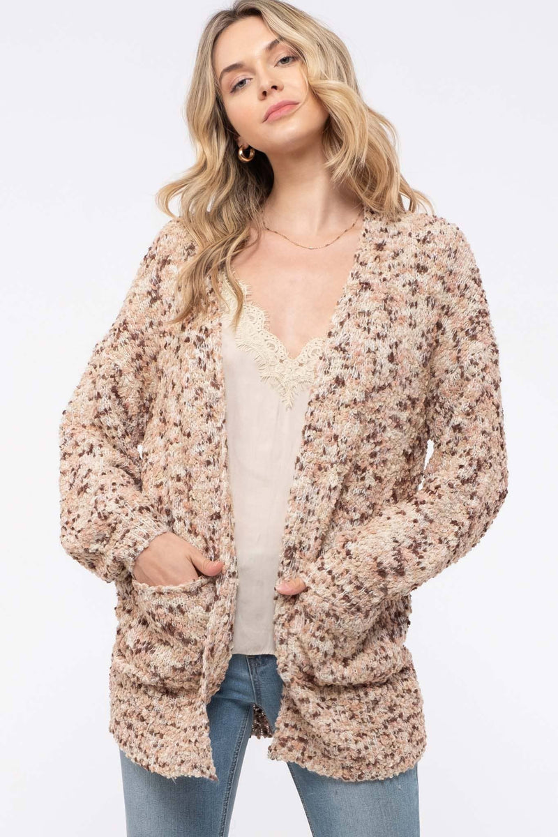 Textured Marbled Cardigan - Amaranth Collection
