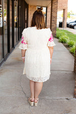 Laced to Perfection Embroidered Dress