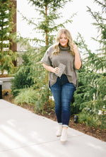 Foxy Boxy Two-Tone Top - Amaranth Collection
