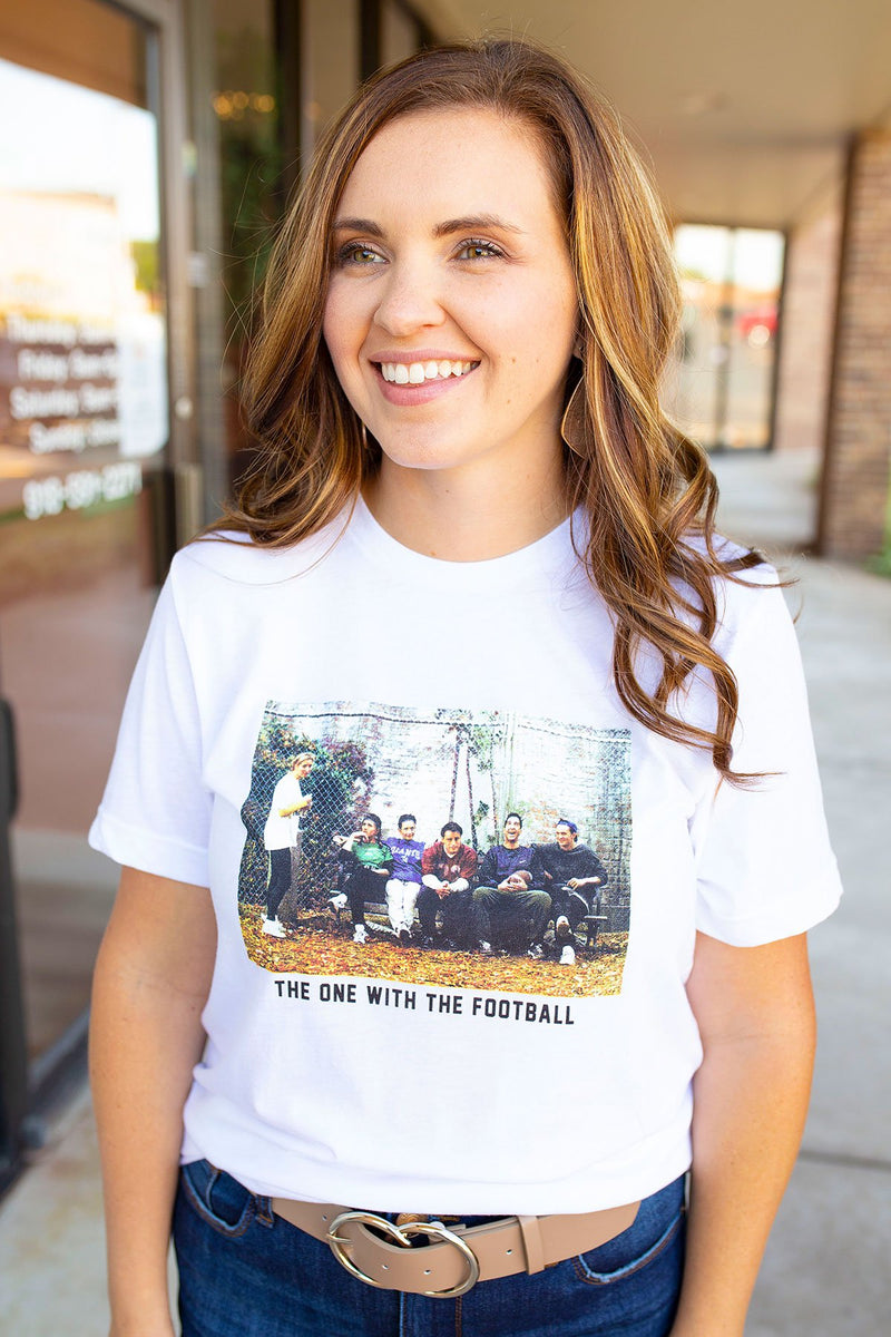 The One with the Football Graphic Tee - Amaranth Collection