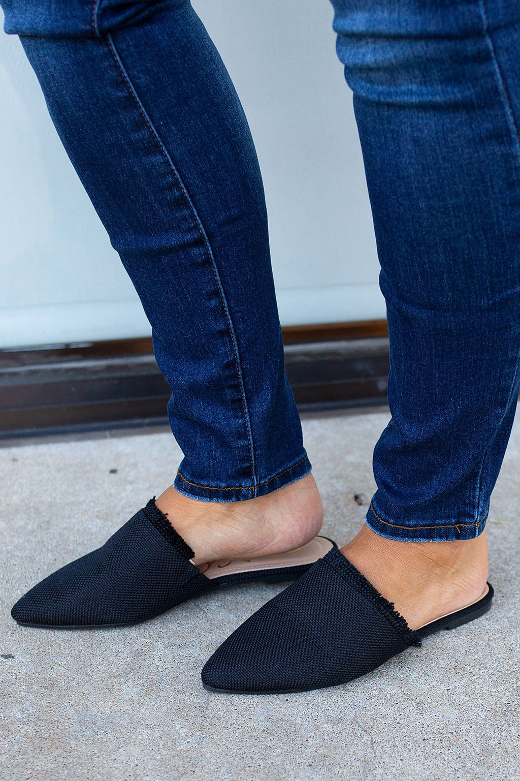 Frayed Edge Mule in Black - Amaranth Collection