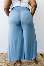 Go Get 'Em Gaucho Pants In Blue Gray - Amaranth Collection
