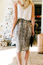 Happy In My Skin Sequin Pencil Skirt