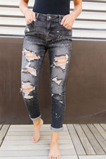 In The Past Dark Gray Boyfriend Jeans