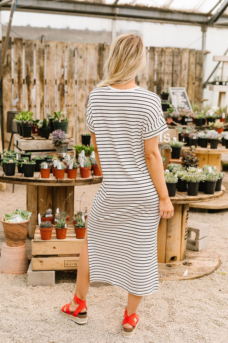 Ivory Stripes No Gripes Dress