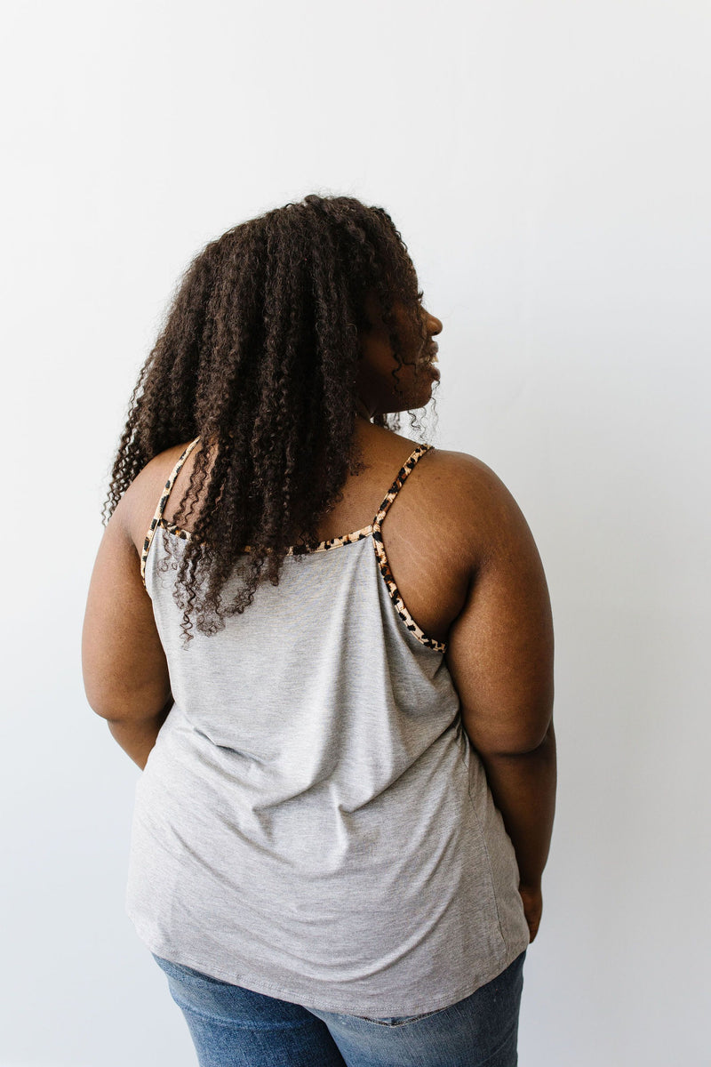 Just A Little Wild Camisole In Heather Gray - Amaranth Collection