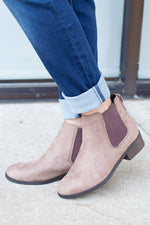 Simply Chic Bootie in Taupe