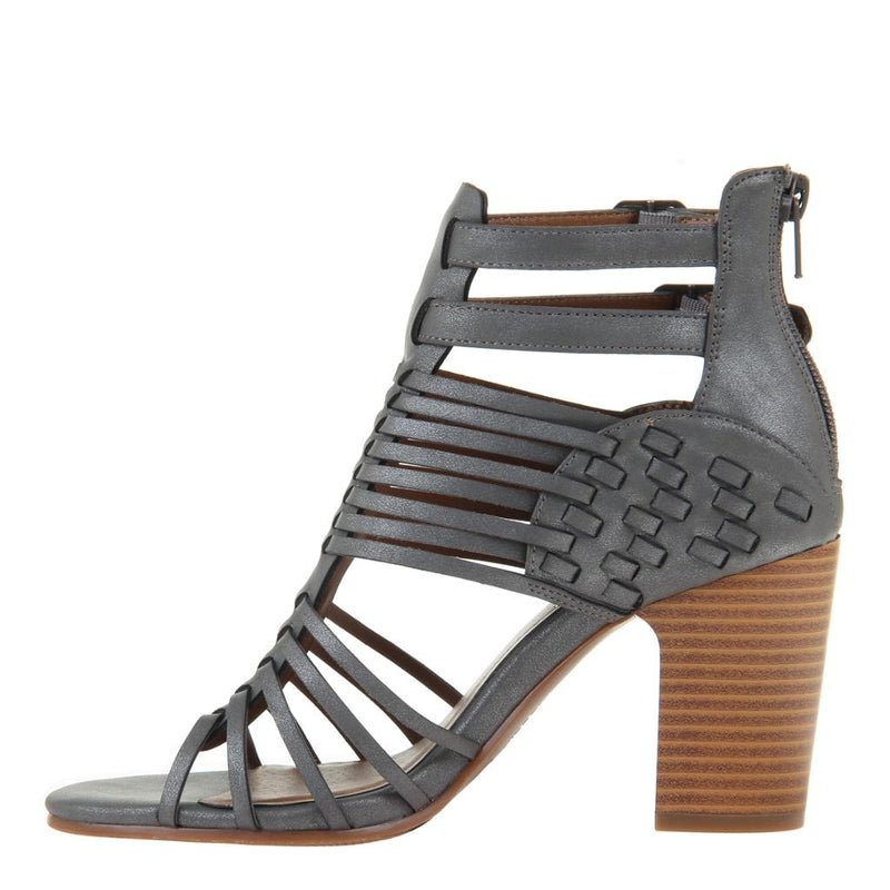 MADELINE GIRL - KWEEN in DARK GREY Heeled Sandals