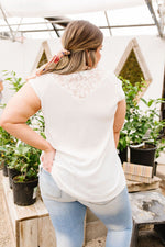 Lace & Grace Top In Off-White