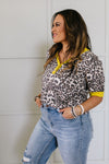Lemon Leopard Top