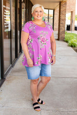 All Dolled Up Floral Tunic in Orchid