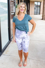tie dye bermuda high waist leggings