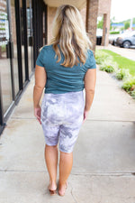 tie dye bermuda high waist shorts