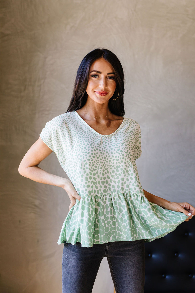 Minty Fresh Spots Blouse - Amaranth Collection