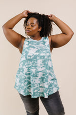 Moody Sage Thermal Tie Dye Top - Amaranth Collection
