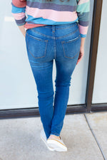 Medium Blue High Rise Non-Distressed Jeans