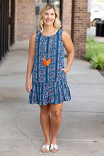 Aztec Summer Ruffle Dress
