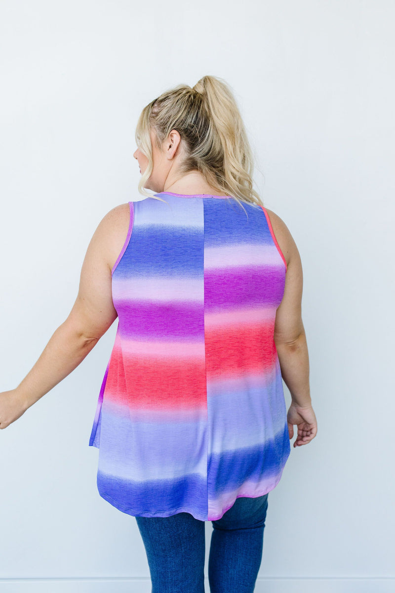 Pastel Gradient Stripes in Pink & Aqua - Amaranth Collection