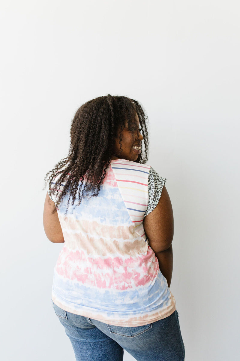 Pieced Together Tie Dye Top - Amaranth Collection