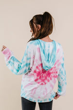 Pink Sunburst Tie Dye Hoodie - Amaranth Collection